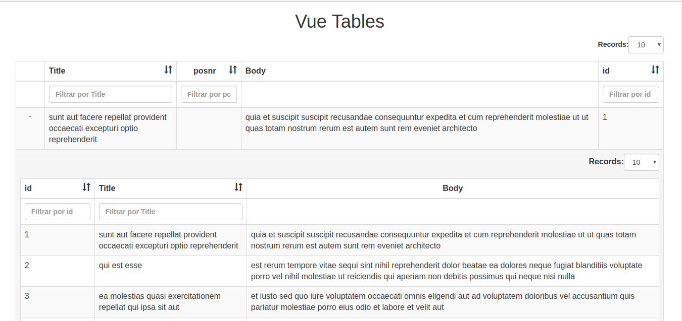 Necesito ayuda con vue2-Bootstrap-table - Spanish - Vue Forum