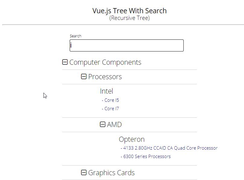 Search component - Vue Forum