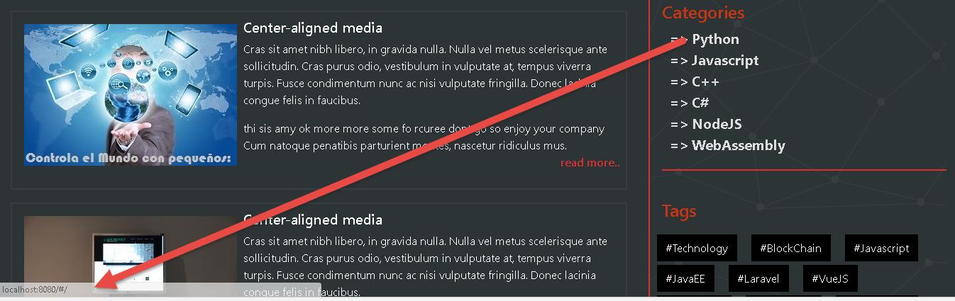 Router-link don't show me url - Vue Forum