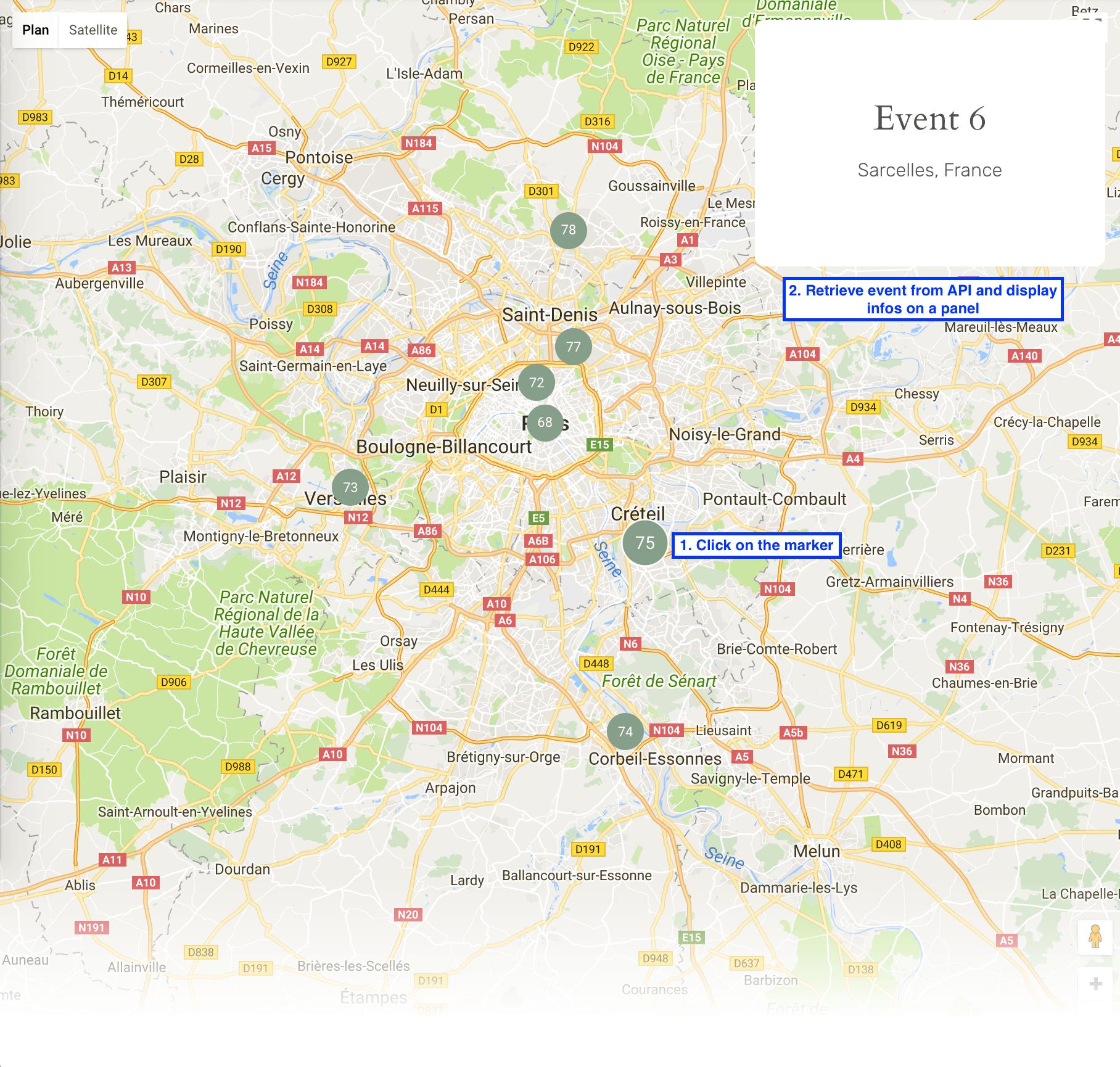Bind click event on a custom google map marker - Get Help