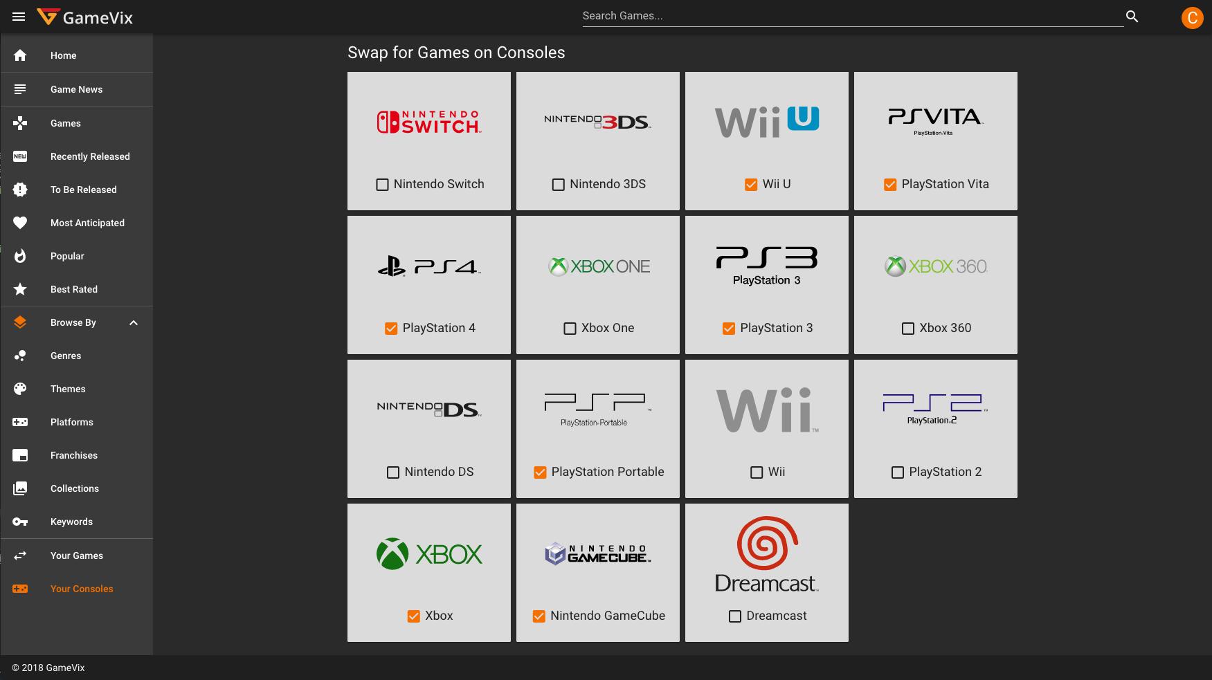 GameVix: Swap Video Games (PWA built with Vue js (Nuxt js) +
