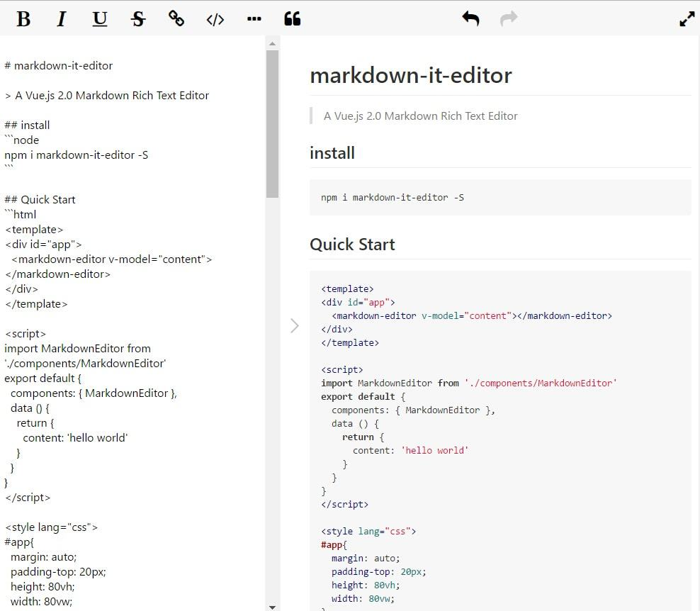 A Vue2 0 Markdown Rich Text Editor - Show & Tell - Vue Forum