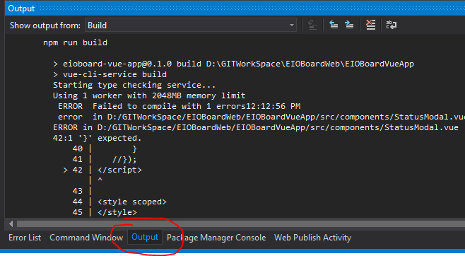 How to get Visual Studio 2017 to tell me the actual error?