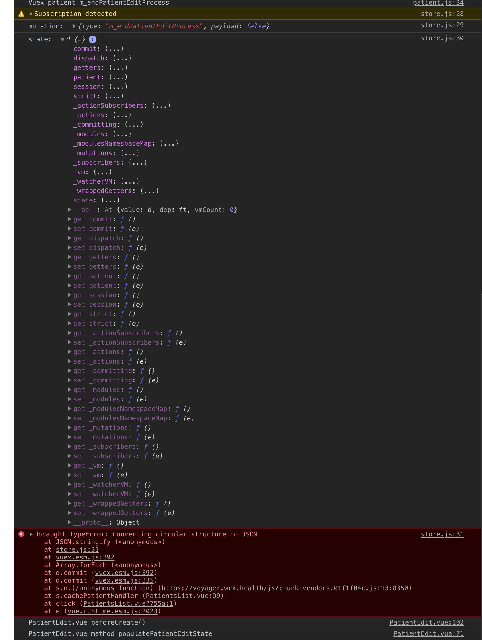 Baffling mutation payload in new window/tab - Get Help - Vue