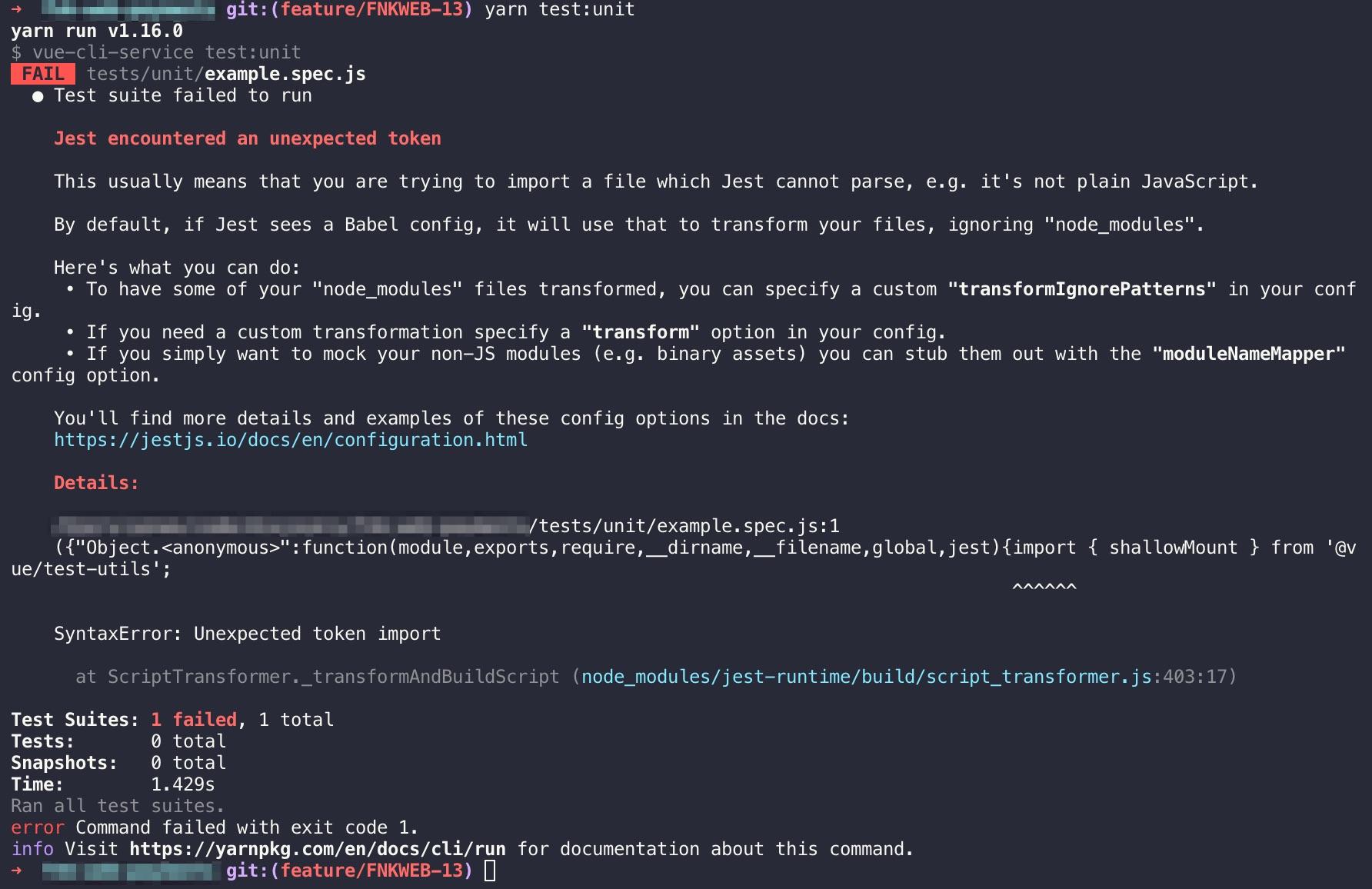 Jest Unit Tests Not Working - Get Help - Vue Forum