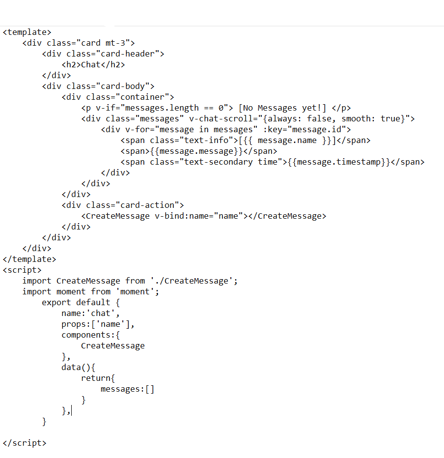 TypeError: Cannot read property 'push' of undefined
